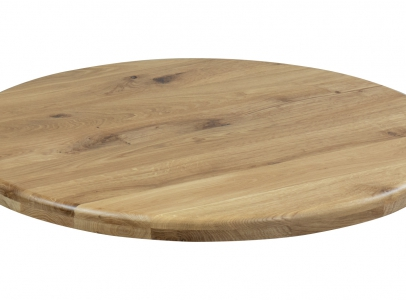 Round Oak Table Tops